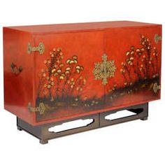 Modern Chinoiserie Decorated Sideboard by Beacon Hill
