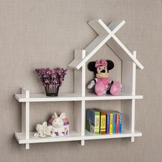 Transcendent Dog House with Recycled Pallets Ideas. Adorable Dog House with Recycled Pallets Ideas. White Wall Shelves, Wall Mounted Shelves, Kids Wall Shelves, Wall Shelves Design, Recycled Pallets, Wooden Pallets, Wood Plastic, Wall Design, House Design