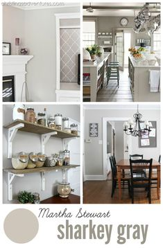 Martha Stewart Sharkey Gray - the PERFECT #greige color! #DIY #paint
