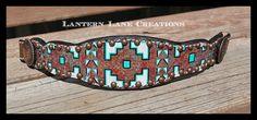 Handpainted custom southwest themed noseband