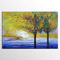 Abstract Art, Canvas Painting, Living Room Art, Modern Painting, Living Room Wall Art, Large Art, Spring Tree Art, Canvas Art, Oil Painting
