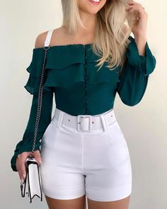 Cute Casual Outfits, Short Outfits, Chic Outfits, Pretty Outfits, Fashion Outfits, Girls Fashion Clothes, Girl Fashion, Clothes For Women, Short Mini Dress
