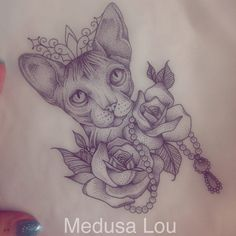 Sphinx Cat Tattoo my Medusa Lou Tattoo Artist - medusa_lou@hotmail.com