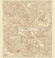 Vintage floral paisley Anchor vector by davidgra on VectorStock®