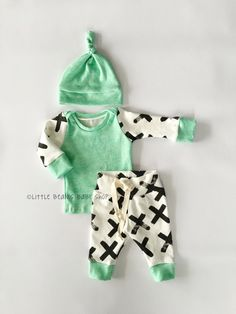 coming home outfit baby boy newborn boy by LittleBeansBabyShop