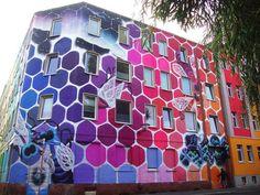 Mural geométrico. | Matemolivares