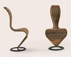 Britain: S-chair by Tom Dixon for Cappellini, 1985.