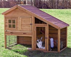 New Large 2 Two Story Rabbit Hutch Small Animal Enclosure Cage Ranch Guinea Pig