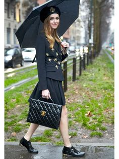 Chiara Ferragni, Blogger at the Blonde Salad Milan Fashion Week 2014 Street Style
