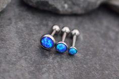 Opal 16G Barbell in Fire Blue