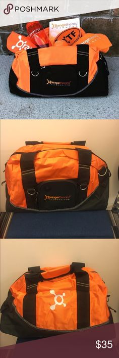 OrangeTheory Gym Duffel Bag 🔥🔥 BRAND NEW 🔥🔥  Fitness duffel with tons of storage space and style. Show up for your workout at OrangeTheory or elsewhere with a unique and vibrant bag.  🔸 large interior compartment 🔸 small zippered section in front 🔸 removable cross-body strap included  🔸 water-resistant fabric 🔸 external hooks for clipping sneakers, keys, etc.   Make an offer and kick off your fitness goals with a punch 👊🏻💪🏻🔥 OrangeTheory Bags