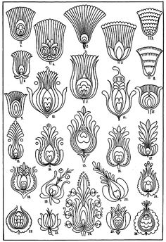 traditional hungarian patterns remind me of peacock feathers