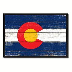 Colorado State Flag Map Modern Style Make A Great Decoration Black Custom Frame Souvenir Gift Ideas Office Home Wall Décor Livingroom Vintage Art Interior Design, http://www.amazon.com/dp/B00ZJ8QFPW/ref=cm_sw_r_pi_awdm_yQRLvb0E920JA
