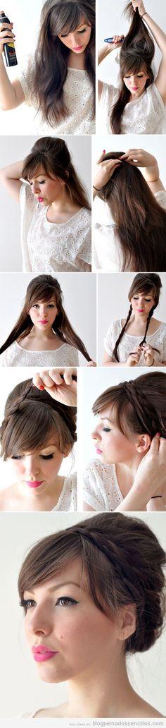 Tutorial para aprender a hacer un peinado sencillo recogido
