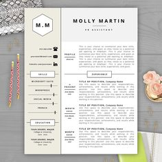 Monogram Resume Template Modern Resume by ResumeTemplateStudio