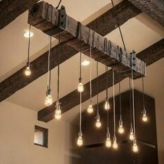 Unique ceiling lighting. Imagine it with those white china light covers I bought at Habitat.