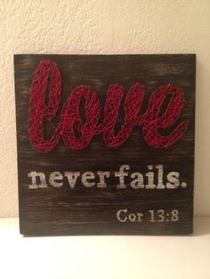 String and Nail Love Never Fails Mini by HeartsOnAStringLLC, $40.00