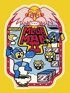 Mega Man 2 Arcade Decal  -Derek Deal