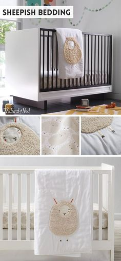 We're not shy when it comes to talking about our Sheepish Crib Bedding. Perfect for any boy's or girl's nursery, this set is topped with cozy sheep in stylish neutral colors.