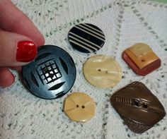 Vintage Celluloid and Bakelite Buttons by BygoneButtonBoutique on Etsy
