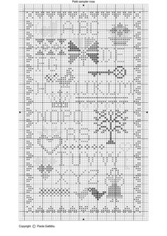 free cross stitch sampler patterns | Sampler Chart ~ Pretty primitive free cross stitch pattern called ...