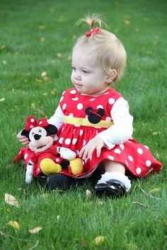Minnie Mouse Dress / Baby Infant  Dress / by Bagsmadetoorder, $35.00