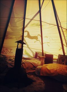 vacationing in a teepee--i want to go to here!