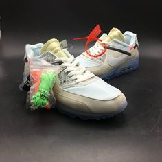 online retailer 8153b 8351e Runs Buy Offer Cheap Sale OFF WHITE x Nike Air Max 90 Ice Sail White Women  Men Running Shoes,First Hand Factory Direct Sale.