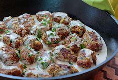 Israeli Meatballs Simmered in Tehina.