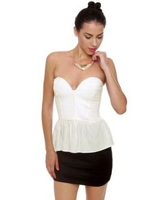 Confessions White Bustier Top