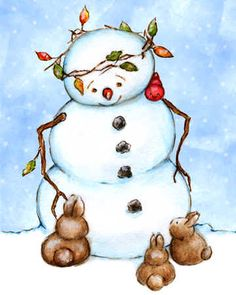 *SNOWMAN•♥•.¸¸.•´¯`•.♥This little guy has received 438 pins and 35 likes!  He's popular!