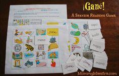 Free Spanish Phonics Game from Lectura Para Niños
