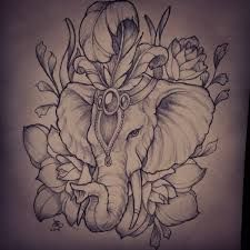 painted elephant tattoo - Google Search