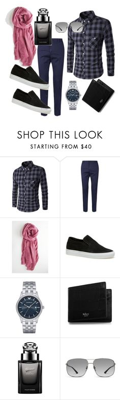 """scarves"" by anicagrbesa ❤ liked on Polyvore featuring Valentino, Lacoste, Emporio Armani, Mulberry, Gucci, men's fashion and menswear"