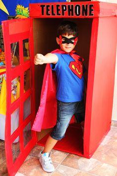 Superhero telephone booth