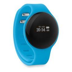 Pulsera de actividad. Pulsera Bluetooth de actividad en silicona. Permite contabilizar pasos, calorías quemadas, sus kilómetros recorridos al día y horas de sueño. También dispone de modo alarma, función podómetro y aviso de llamada entrantes.