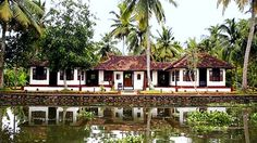 You need a boat to get to this hotel in Kerala.