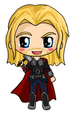 Thor Chibi by IcyPanther1.deviantart.com on @deviantART
