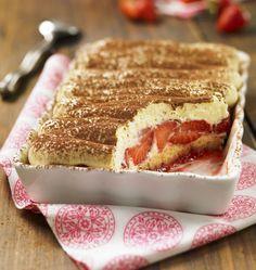 Tiramisu aux fraises et Quatre-quarts - Recettes de cuisine Ôdélices