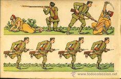 Coleccionismo Recortables: Recortable de soldados: Melilla, infanteria española (Ed.DV Letra A) (ver foto adicional) - Foto 2 - 30684250