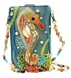 online shopping for Mary Frances Unfathomable Beaded Jeweled Crystal Seahorse Fish Ocean Handbag Shoulder Bag from top store. See new offer for Mary Frances Unfathomable Beaded Jeweled Crystal Seahorse Fish Ocean Handbag Shoulder Bag Unique Handbags, Beautiful Handbags, Beautiful Bags, Purses And Handbags, Mary Frances Purses, Mary Frances Handbags, Beaded Purses, Beaded Bags, Vintage Purses