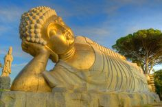 Reclining Buddha at the Garden of Peace, Buddha Eden, Bombarral, Portugal