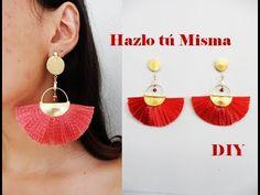 Tassel earrings using satin ribbon Diy Tassel Earrings, Tassel Jewelry, Diy Jewelry, Jewelery, Crochet Earrings, Handmade Jewelry, Jewelry Design, Jewelry Making, Thread Jewellery