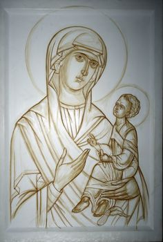 Religious Pictures, Religious Icons, Religious Art, Painting Process, Painting Lessons, Painting Techniques, Writing Icon, Images Of Mary, Best Icons