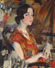 Nicolai Fechin - Portrait of Kate, 1926