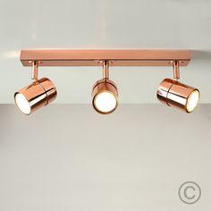 Modern 'Nina' 3 Way Straight Spotlight Bar
