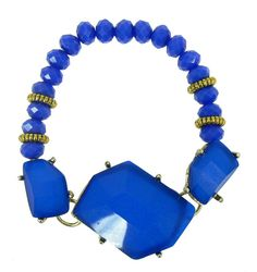 Coloured Gem Stone Bracelet - Blue $39.95  #leethal #accessories #fashion