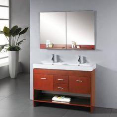 "Small bathroom, double sinks 48"""