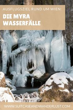 A beautiful destination around Vienna are the Myra waterfalls. Worth a trip in summer and winter. Vienna Winter, Vienna Austria, Winter Park, Short Trip, You Are Awesome, Mount Rushmore, Cathedral, Travel Destinations, Explore