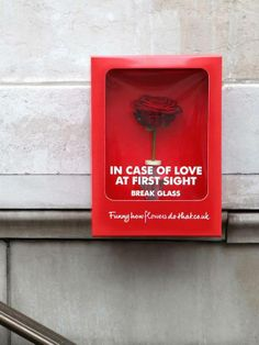 In case of love at first side break the glass